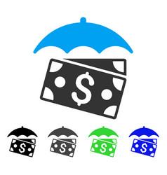 Banknotes umbrella flat icon vector