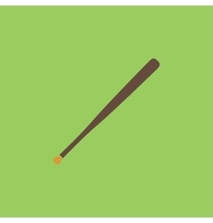 baseball bat icon vector image vector image