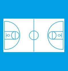 Basketball field icon white vector