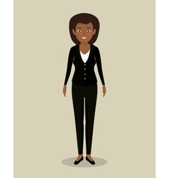 Businesswoman character avatar isolated vector