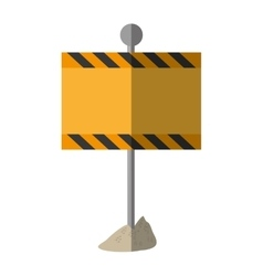 cartoon sign road rectangle caution empty vector image