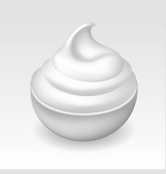Cheese cream bowl vector