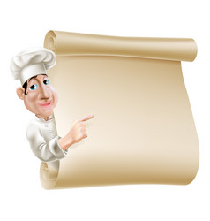 chef scroll menu vector image