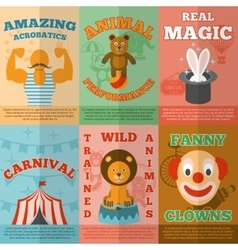 Circus flat icons composition poster vector
