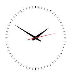 clock on white vector image