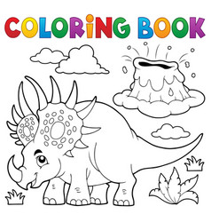 coloring book dinosaur topic 2 vector image