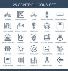 Control icons vector