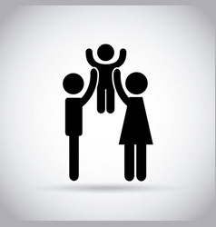 couple with kid vector image