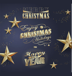 elegant christmas background with gold vector image
