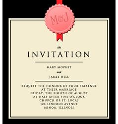 Elegant invitation vector