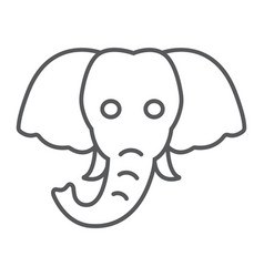 elephant thin line icon animal and zoo vector image