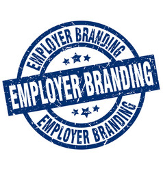Employer branding blue round grunge stamp vector