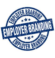 Employer branding blue round grunge stamp vector