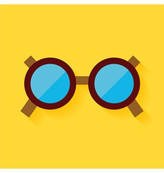Flat Fashion Accessory Glasses vector image