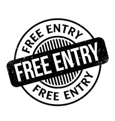 Free entry rubber stamp vector