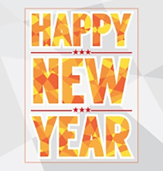 Happy New Year Card Polygon Style vector image