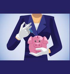 Healthcare savings concept vector