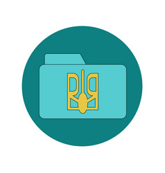 in flat design of folder with vector image