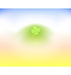 Irish Clover Leaf on light background vector
