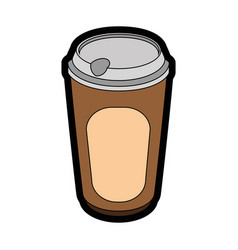 Isolated hot coffee container vector