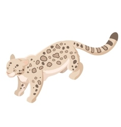 Isometric snow leopard vector