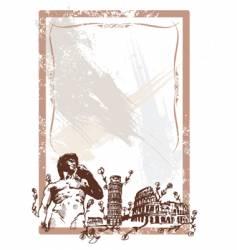 italian landmarks vector image