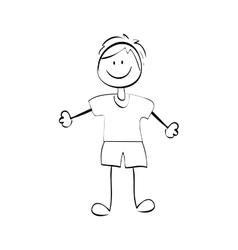 Kid boy draw vector image