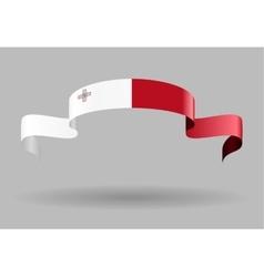Maltese flag background vector
