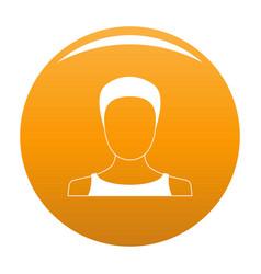 Man user icon orange vector