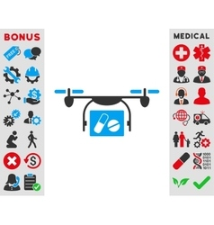 Medical Quadcopter Icon vector image