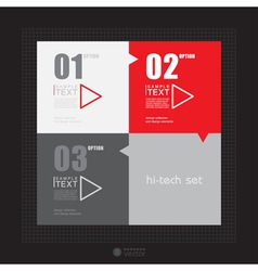 Modern infographic template for business design vector
