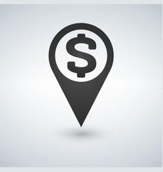 money map location icon vector image