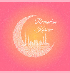 moon with mosque vector image