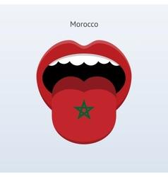 Morocco language Abstract human tongue vector image