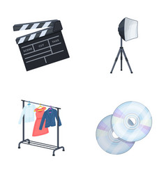 Movies discs and other equipment for the cinema vector