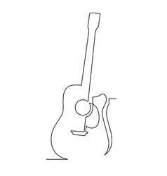 one line guitar vector image
