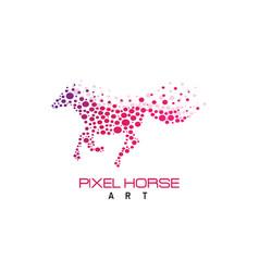 Pixel horse logo vector