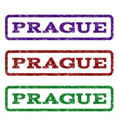 Prague watermark stamp vector