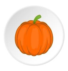 Pumpkin icon cartoon style vector