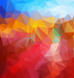 Red fire blue polygonal triangular pattern vector