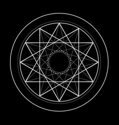 Sacred geometry symbol of vector