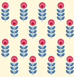 scandinavian flowers seamless pattern vector image