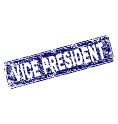 Scratched vice president framed rounded rectangle vector
