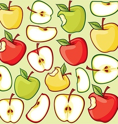 Seamless Apple Pattern vector image