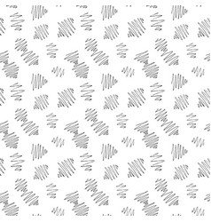 seamless pattern of abstract black ink doodles vector image