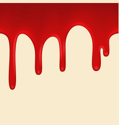 Seamless red paint colorful dripping vector