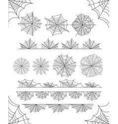 set of cobweb design on white background vector image