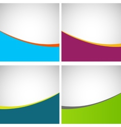 Set of simple stylish backgrounds eps vector
