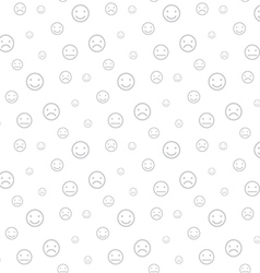 Smiley faces seamless light background vector image
