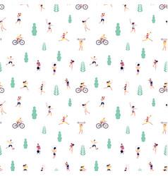 sport people pattern people sporting street vector image